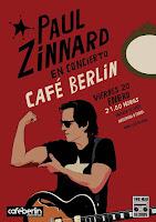 Concierto de Paul Zinnar en Café Berlín