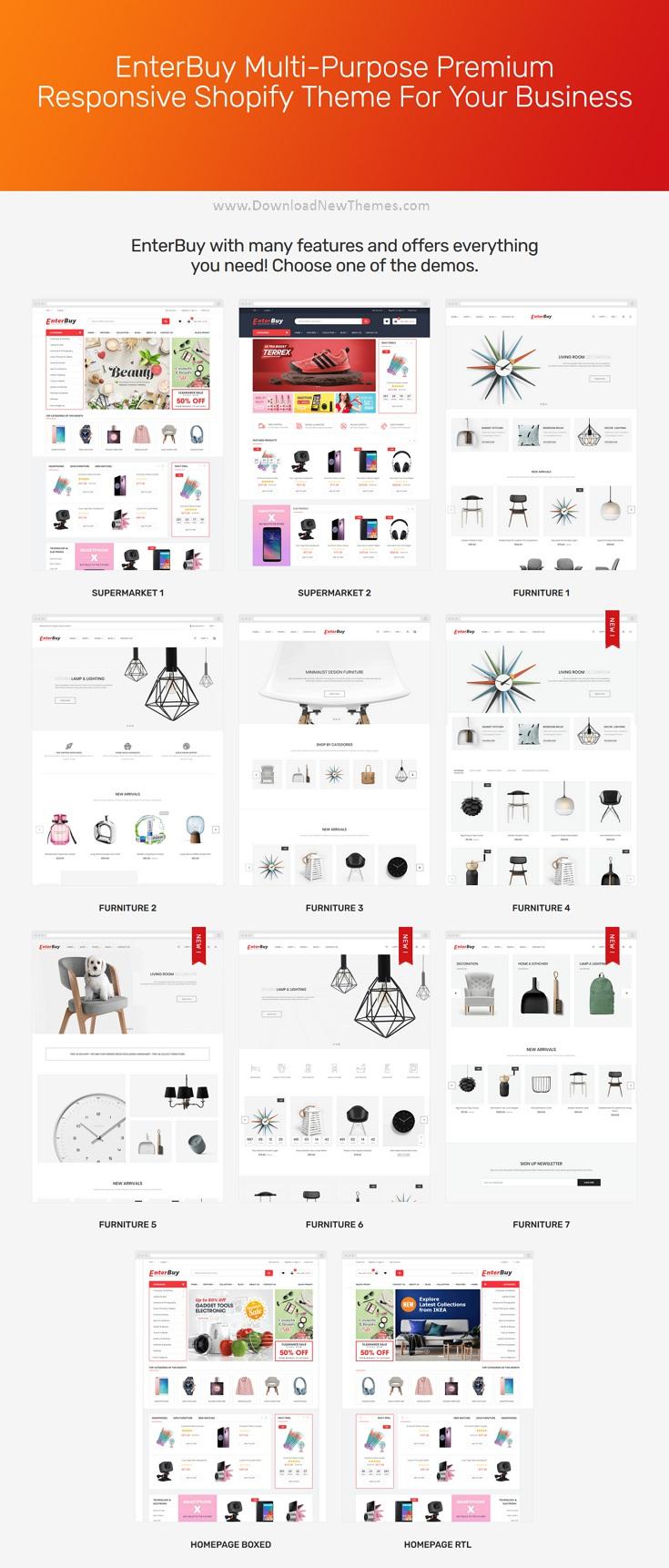 Responsive Multipurpose Premium Shopify Theme