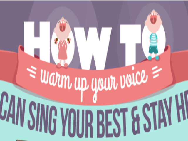 A Warm Up Routine for Singers #Infographic