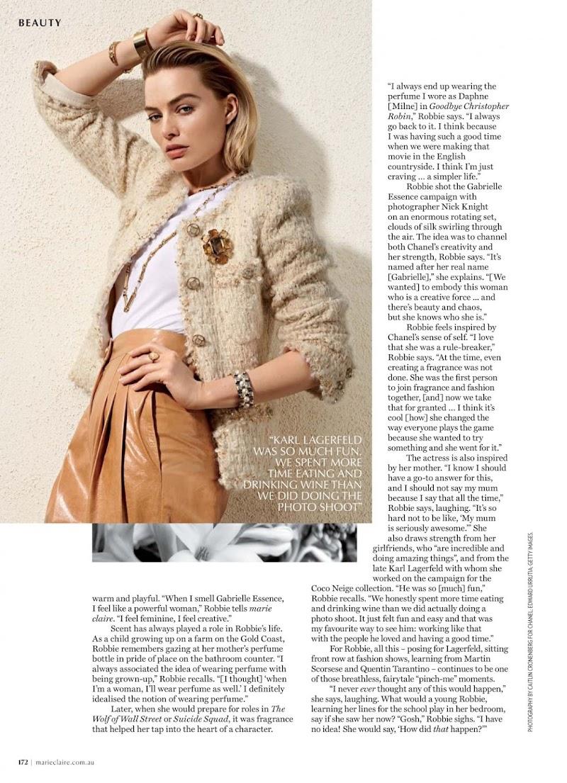 Margot Robbie in Marie Claire Magazine, Australia October 2019