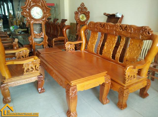 Bộ Bàn Ghế Salon Gỗ Gõ Đỏ, Bo Salon Go Go Do Da Nang, Bo Salon Go Go Do Huế Hue