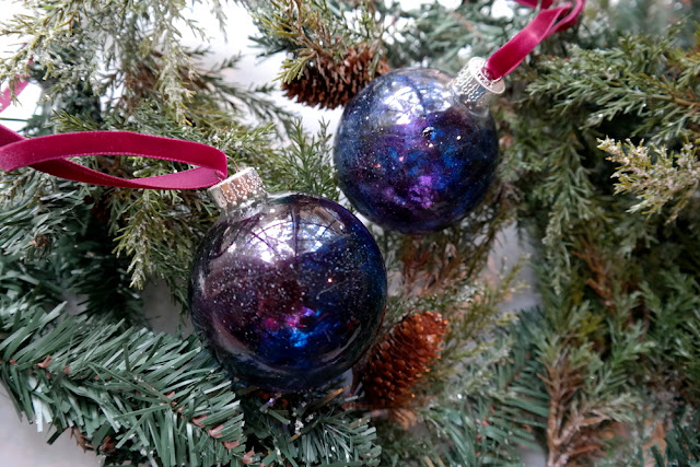 Glass Graffiti Galaxy Ornament Video Tutorial by Dana Tatar