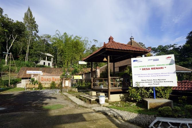 Suasana sunyi di Desa Menari Tanon