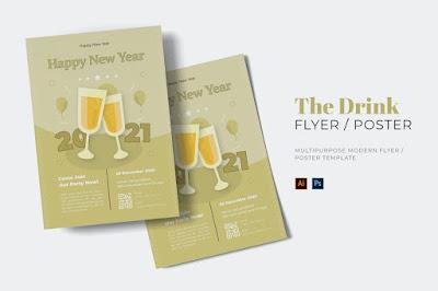 Contoh brosur iklan minuman