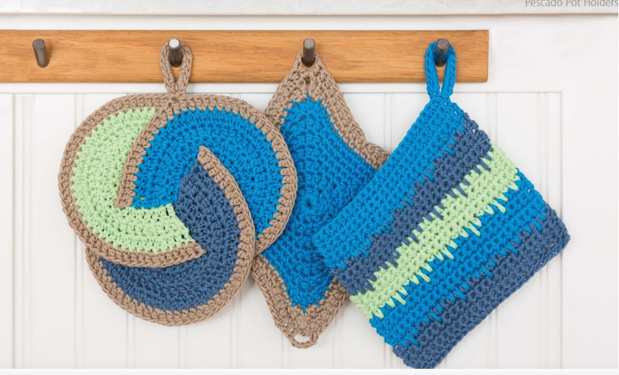 Pescado Crochet Pot Holders Pattern