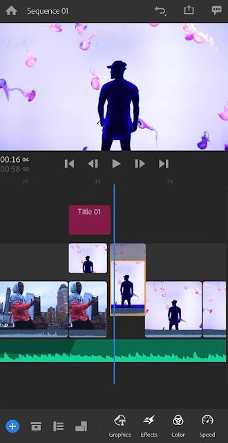 Adobe Premiere Rush editing app for Instagram reels