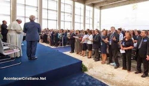 El Papa Francisco visita Iglesia Evangélica