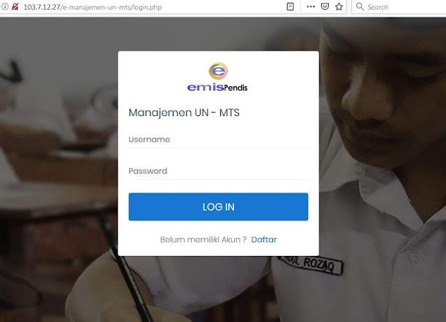 Alternatif Link Emis Administrasi Un Mts Ma
