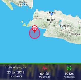 Guncangan Gempa 6,1 SR Lebak Banten Terasa di Bandung