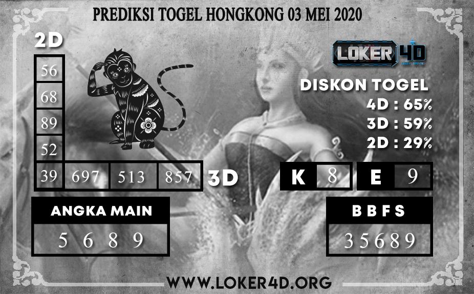 PREDIKSI TOGEL HONGKONG LOKER4D 03 MEI 2020