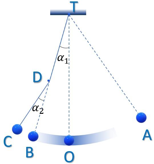Hình ảnh minh họa câu 9 tracnghiem online Chu kì, tần số của con lắc đơn