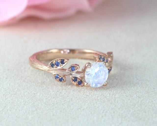 Non Diamond Engagement Rings Moonstone