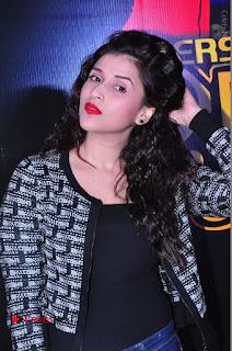 Actress Mannara Chopra Stills in Jeans at Sparx 2017 Curtain Raiser Event  0067.JPG