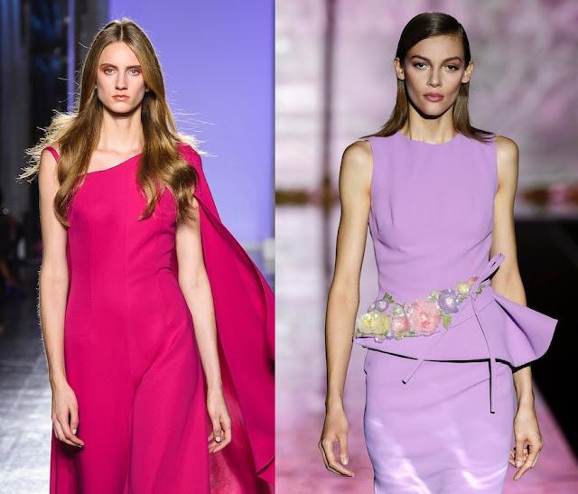 4f5b56647f robe de soirée pour un mariage rose asymétrique, robe de soirée pour un  mairiage violette