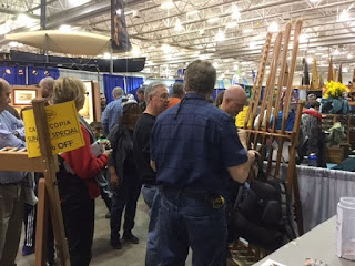 NorthPoint Paddles booth at Canoecopia 2017