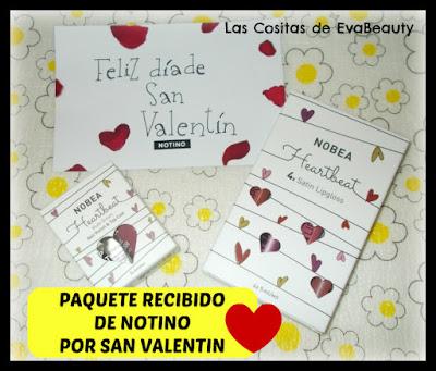 Paquete Recibido de Notino por San Valentín