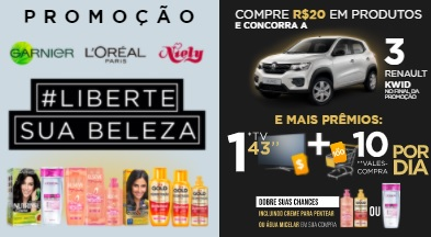 Cadastrar Promoção Liberte Sua Beleza L'oreal Garnier e Niely - Carros e Prêmios Todo Dia
