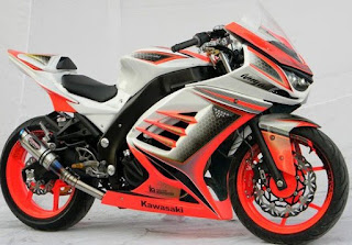 Ninja 250 Fi Modifikasi Warna Putih