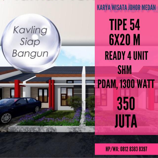 Jual Rumah Murah Ready 350 JUTA Tipe 50 Di Karya Wisata Ujung Medan