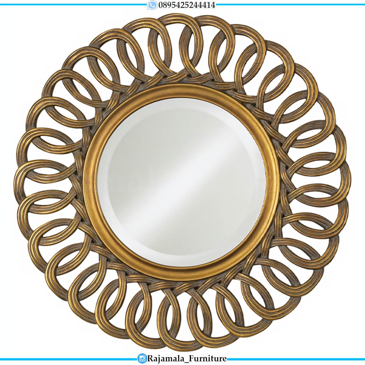 Cermin Dinding Mewah Bundar Luxurious Elegant Style RM-0663