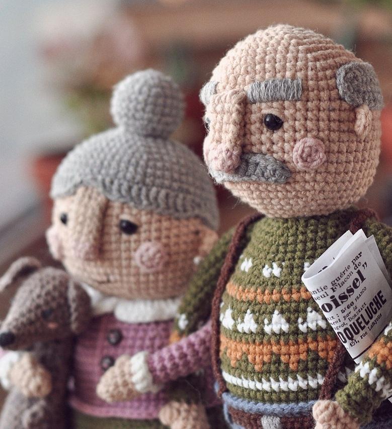 Описание вязания крючком кукольной пожилой семейной пары (10)
