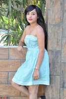 Sahana New cute Telugu Actress in Sky Blue Small Sleeveless Dress ~  Exclusive Galleries 034.jpg