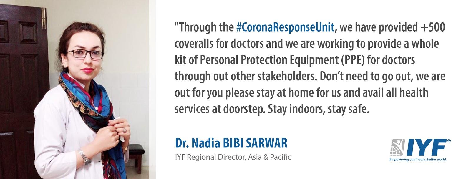 Dr. Nadia Bibi Sarwar, IYF Regional Director in Asia & Pacific