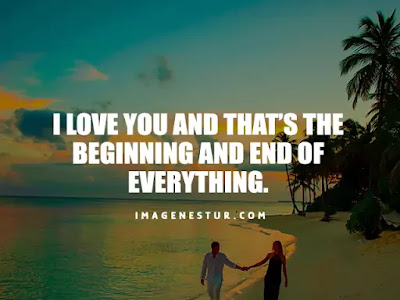 Love Captions-I love you and that's the beginning and end of everything.