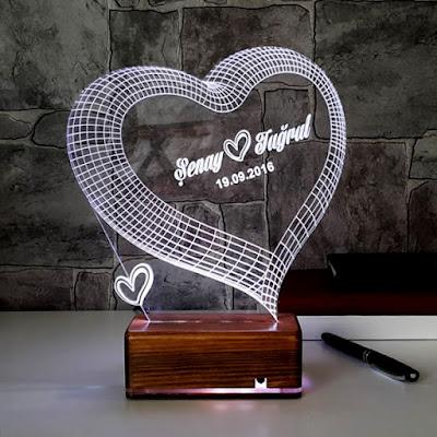 3 Boyutlu LED Lamba
