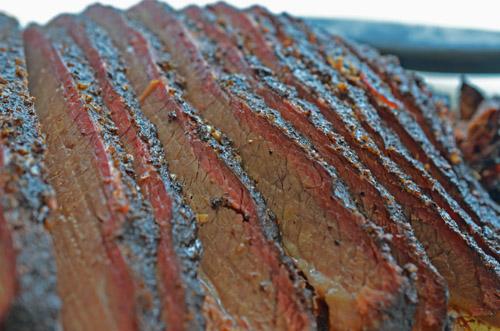 Brisket smoked on a Oklahoma Joe's Rider DLX pellet grill