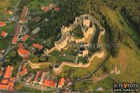 letecký snímek hradu