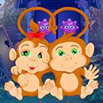 Games4King - Pair Monkey Rescue Escape