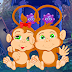 Games4King - Pair Monkey Rescue Escape