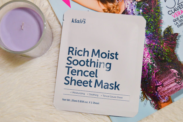 Klairs Rich Moist Soothing Tencel Sheet Mask Review