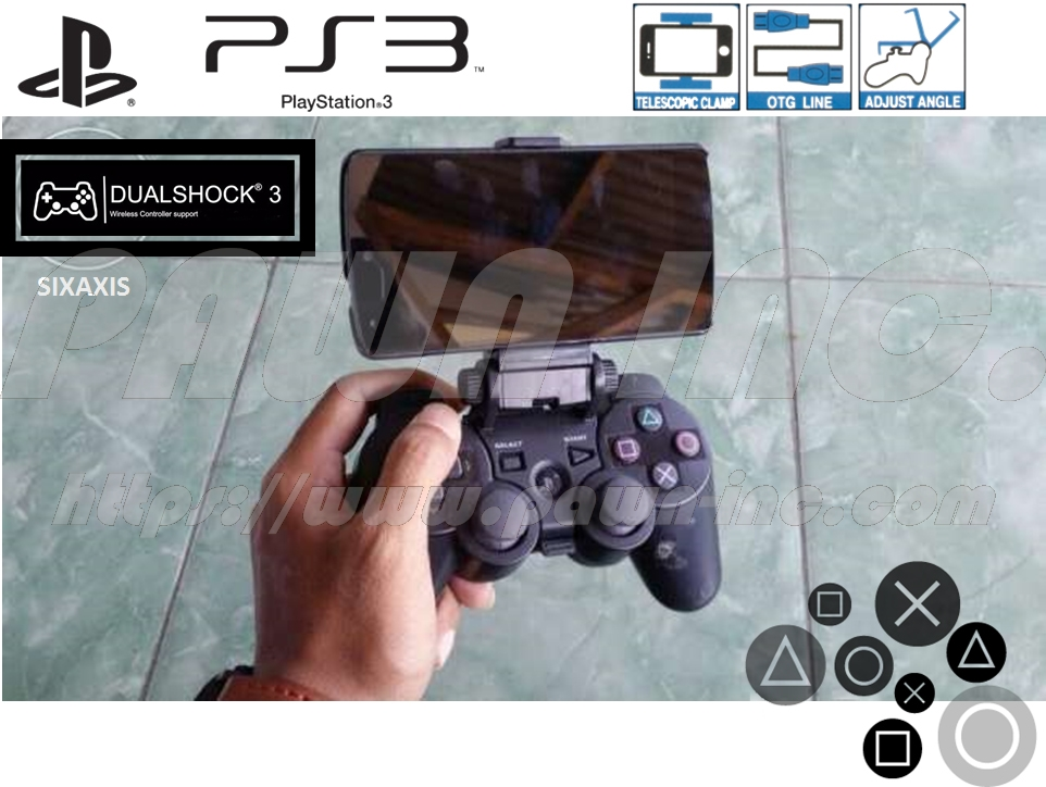 Mobile Phone Clamp for DualShock 3 Controller