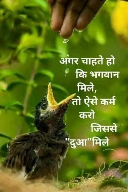 Hindi Quotes of the day on blessing  god