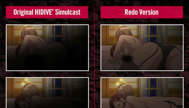 Redo version of Redo Of Healer compared to original censored version