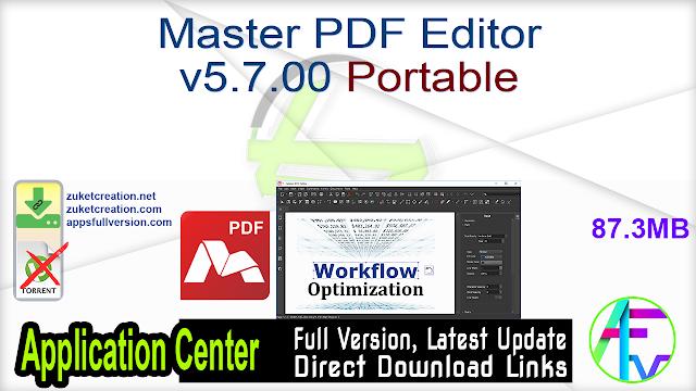 Master PDF Editor v5.7.00 Portable