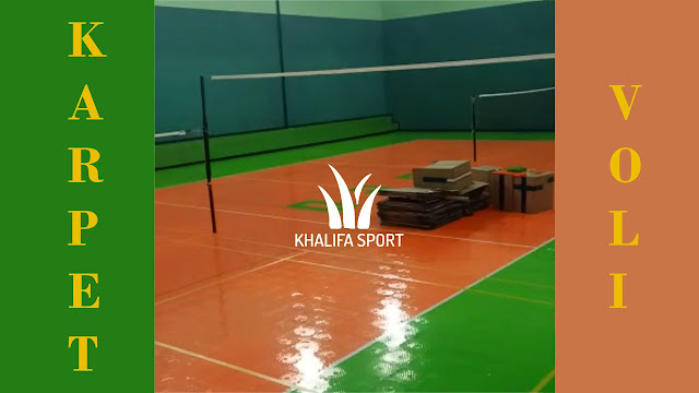Karpet Lapangan Voli Badminton Interlock