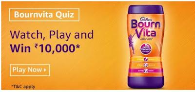 Amazon Bournvita Quiz Answers Win – Rs.10000