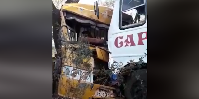 वैष्णवी कॉलेज की बस ने ओवरटेक के चक्कर में यात्री बस में टक्कर मार दी, 25 से ज्यादा घायल   BHOPAL NEWS
