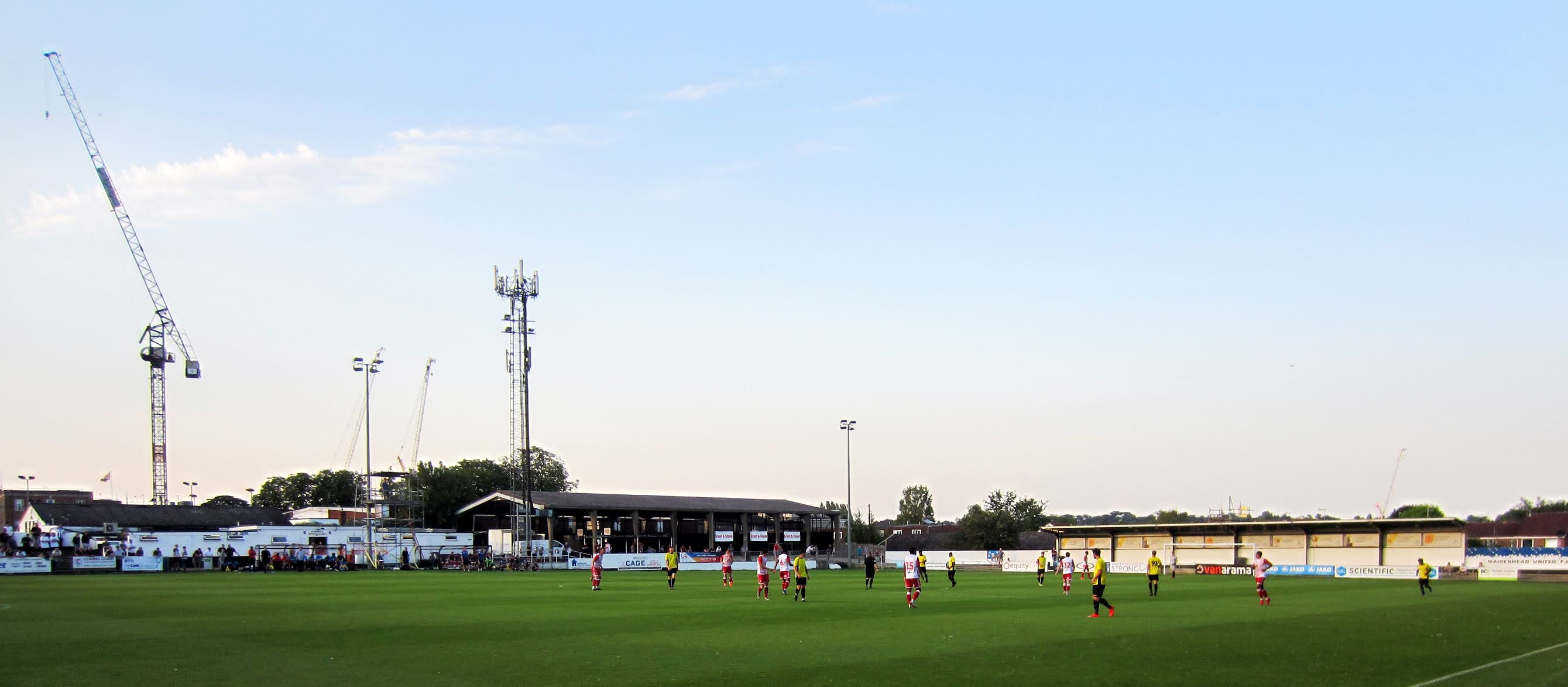 A view towards the Canal End and artificial turf at York Road