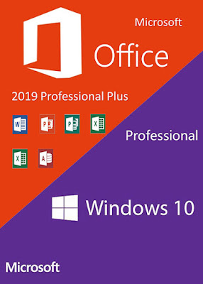 Windows 10 Pro with Office 2019 Plus 64 Bit | Download Lifetime License