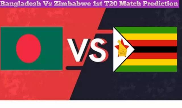 Today Match Prediction-Bangladesh Vs Zimbabwe-1st  T20 Match -Who Will Win Today Match