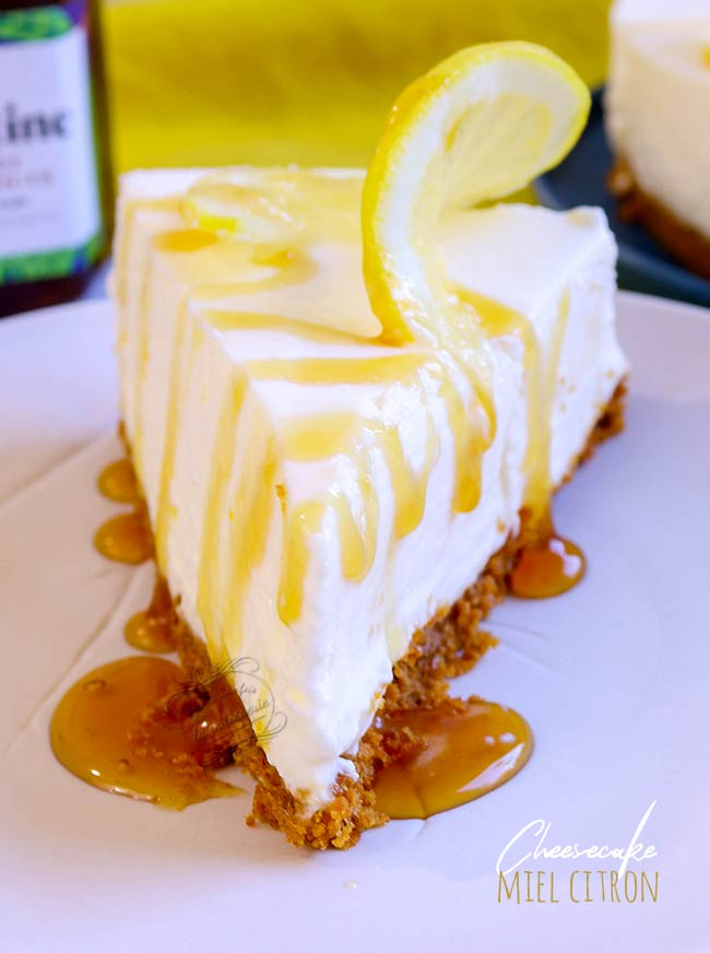 Cheesecake miel citron sans cuisson