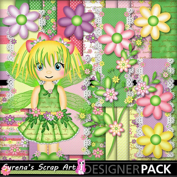 Fairy Bell digital scrapbook kit
