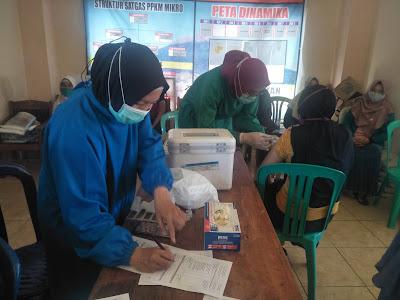 Masyarakat Desa Serang Antuisias Mengikuti Vaksinasi