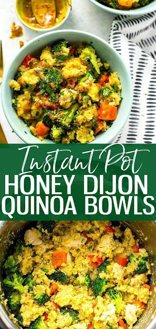 Instant Pot Honey Dijon Chicken Quinoa Bowls