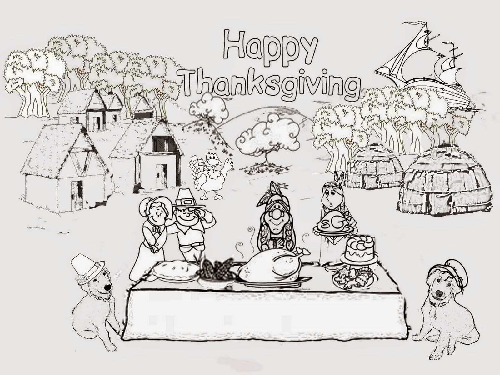 The Holiday Site: Thanksgiving Coloring Pages