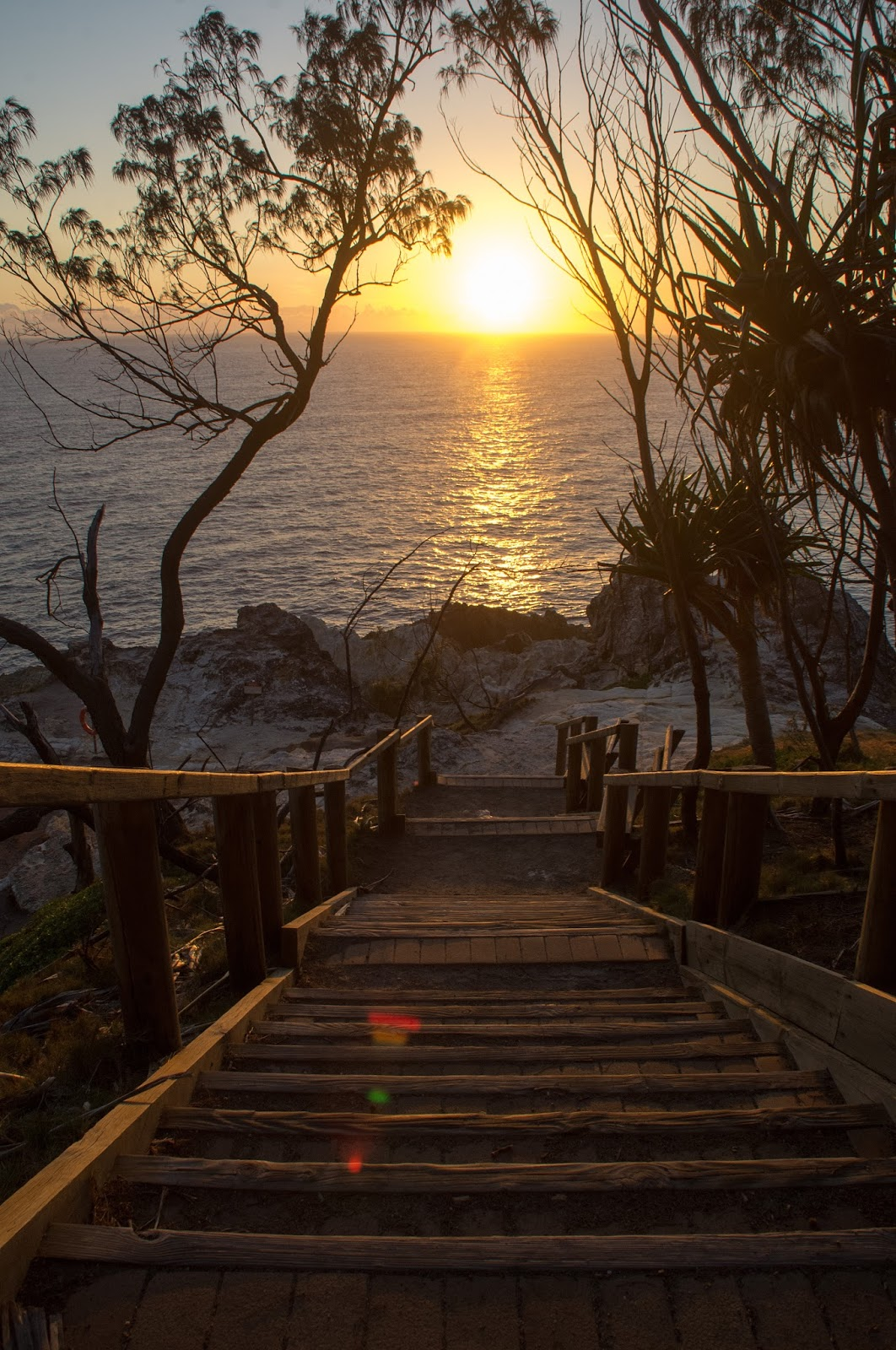 Sunrise from North Gorge Walk Stradbroke Island